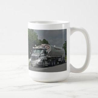 Camión gris de la cisterna de la alimentación del taza