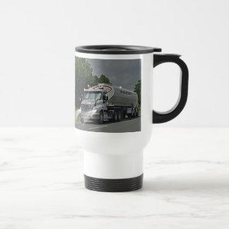 Camión gris de la cisterna de la alimentación del taza de viaje