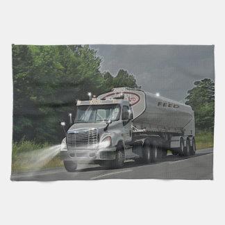 Camión gris de la cisterna de la alimentación del toallas de cocina