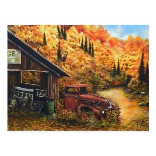 Camión jubilado tarjetas postales
