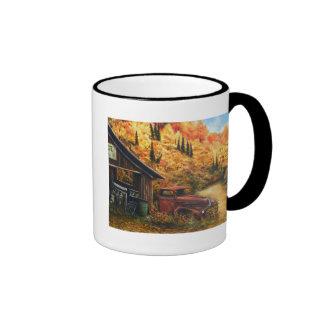 Camión jubilado taza de café