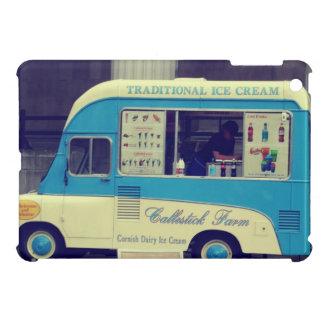 Camión lindo del vintage tradicional del helado iPad mini protectores