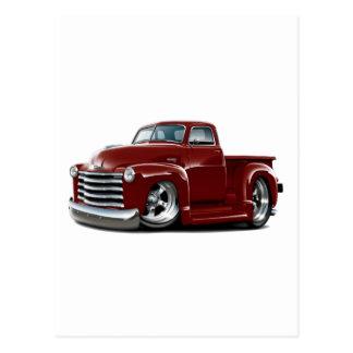Camión marrón 1950-52 de Chevy Postal