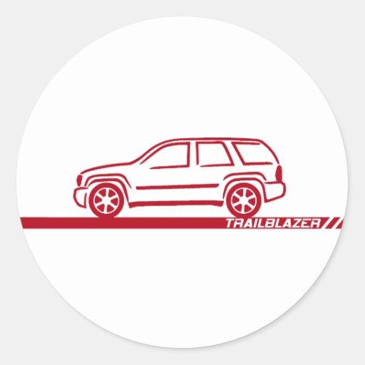 Camión marrón del pionero pegatina redonda