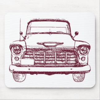 Camión marrón del vintage mouse pads