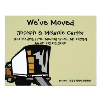 """Camión móvil - hemos movido tarjetas de la invitación 4.25"""" x 5.5"""""""