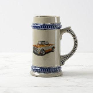 Camión Naranja-Blanco 1970-72 de Chevy C10 Jarra De Cerveza