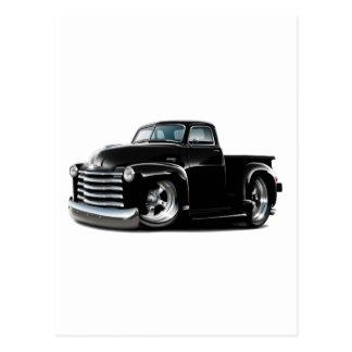 Camión negro 1950-52 de Chevy Tarjetas Postales