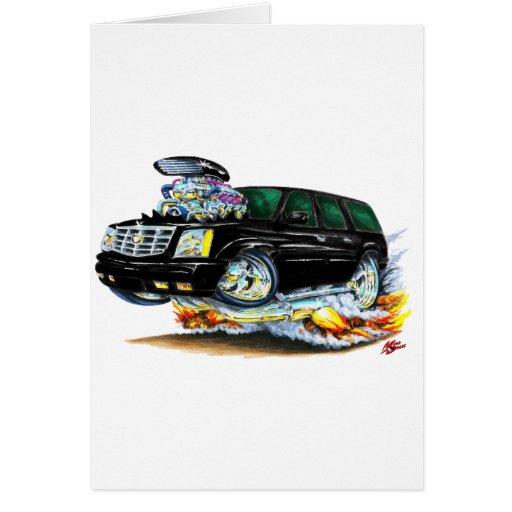 Camión negro de Cadillac Escalade Tarjeta De Felicitación