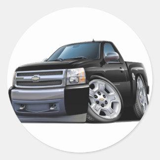 Camión negro de Chevy Silverado Pegatina