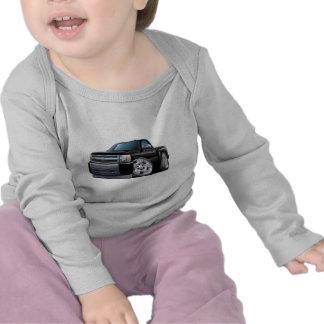 Camión negro de Chevy Silverado Camiseta