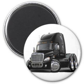 Camión negro de Freightliner Cascadia Imanes