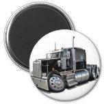 Camión negro de Kenworth w900 Imán Redondo 5 Cm