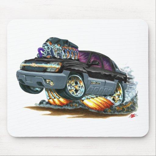 Camión negro de la avalancha tapetes de ratón