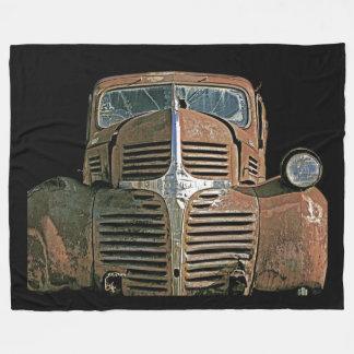 Camión oxidado manta de forro polar