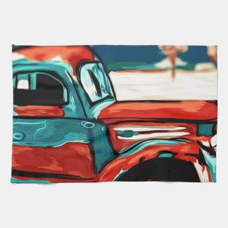 Camión oxidado toalla de cocina