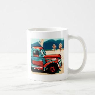 Camión oxidado tazas