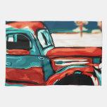 Camión oxidado toalla de mano