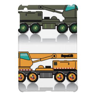 Camión pesado militar de la grúa