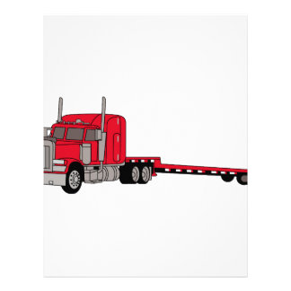 Camión plano membrete a diseño