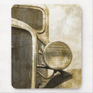 camión retro abstracto del vintage del Grunge Tapetes De Ratón
