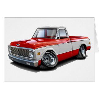 Camión Rojo-Blanco 1970-72 de Chevy C10 Felicitación