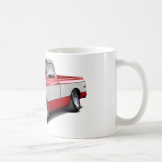 Camión Rojo-Blanco 1970-72 de Chevy C10 Tazas De Café