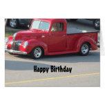 Camión rojo con clase - feliz cumpleaños tarjeta de felicitación