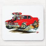 Camión Rojo-Negro 1970 del EL Camino Alfombrillas De Ratón