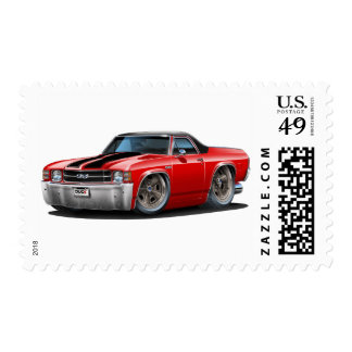 Camión Rojo-Negro 1971-72 del EL Camino Sello