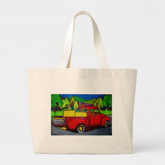Camión rojo por Pilieo Bolsa Tela Grande