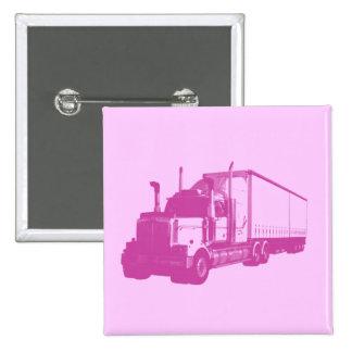 Camión rosado pin cuadrado
