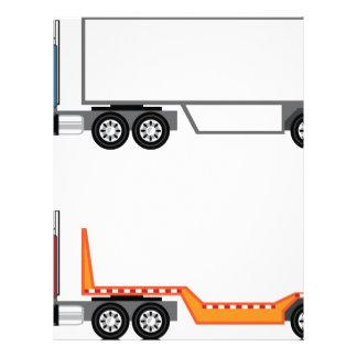 Camión semi y plano membrete