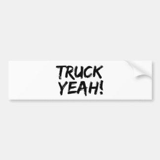 Camión sí pegatina de parachoque