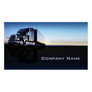 Camión - tarjeta de visita del transporte y de la