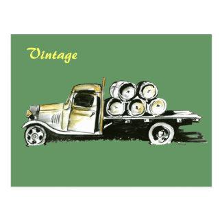 Camión v.1 del vintage postal