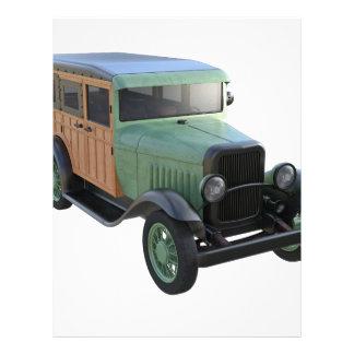 Camión verde clásico de Woody Membretes Personalizados