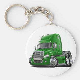 Camión verde de Freightliner Cascadia Llavero Redondo Tipo Pin