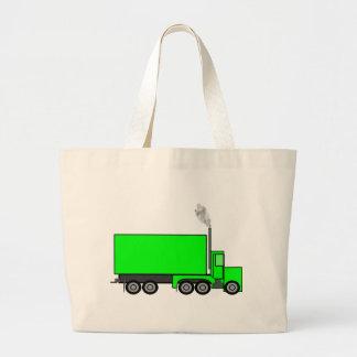 Camión verde del semi-remolque bolsa lienzo