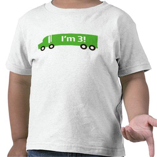 Camión verde: Tercera camiseta del cumpleaños