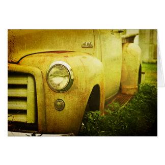Camión viejo de GMC Tarjeta De Felicitación