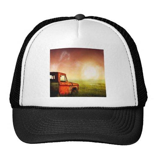 Camión viejo de la granja gorros