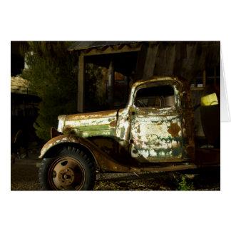 Camión viejo - luz pintada tarjeta de felicitación