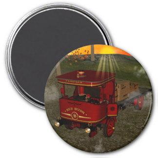 Camión viejo rojo iman