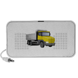 Camión volquete amarillo mini altavoz
