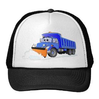 Camión volquete azul del dibujo animado del quitan gorras