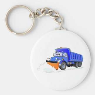 Camión volquete azul del dibujo animado del quitan llavero redondo tipo pin