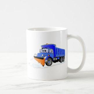 Camión volquete azul del dibujo animado del quitan taza