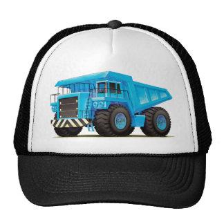 Camión volquete azul grande gorro de camionero