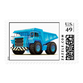 Camión volquete azul grande sellos